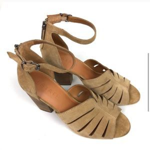 1. State Sling Back Cream Cut Out Sandal Heels